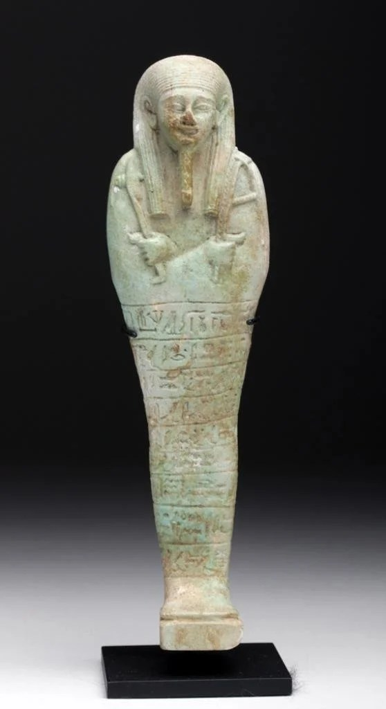Translated Egyptian Faience Shabti exBarakat
