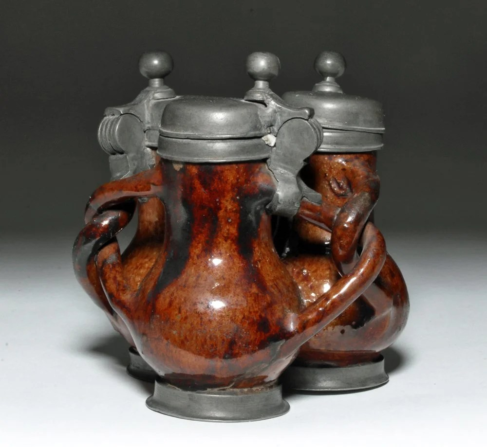 rare german glazed brownware