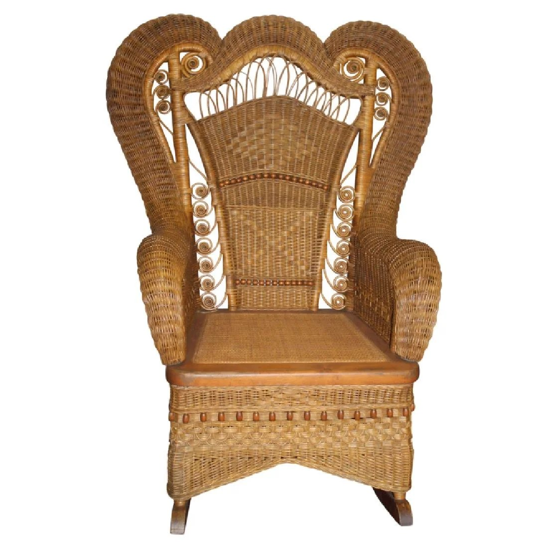 Wicker Rocking Chair Heywood Wakefield Wicker Style Rocking Chair On Liveauctioneers