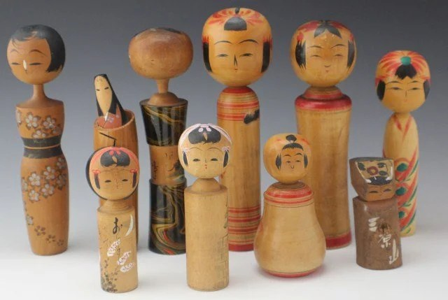 Image result for antique kokeshi dolls
