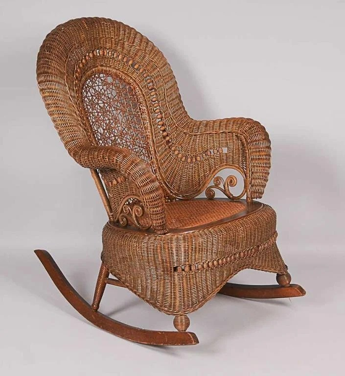 heywood wakefield wicker chairs toddler plush personalized rocking chair late 19th