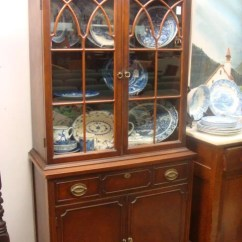 Chinese Chippendale Chairs Cheap Bar 15: 1930's Mahogany Duncan Phyfe Small China Cabinet: