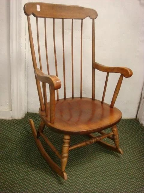 maple rocking chair phil teds me too portable high recall 635 boling co boston rocker