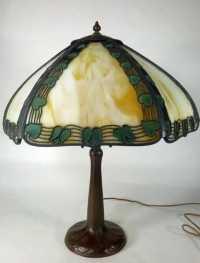 Handel Panel Lamp w/ Handel Bronze Base