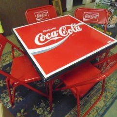 Coca Cola Chairs And Tables Purple Velvet Chair Table Set