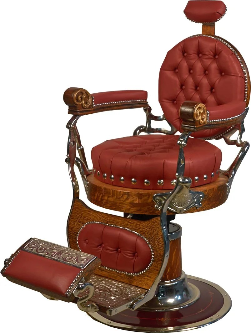 old barber chairs target game chair antique melchior bros chicago round seat
