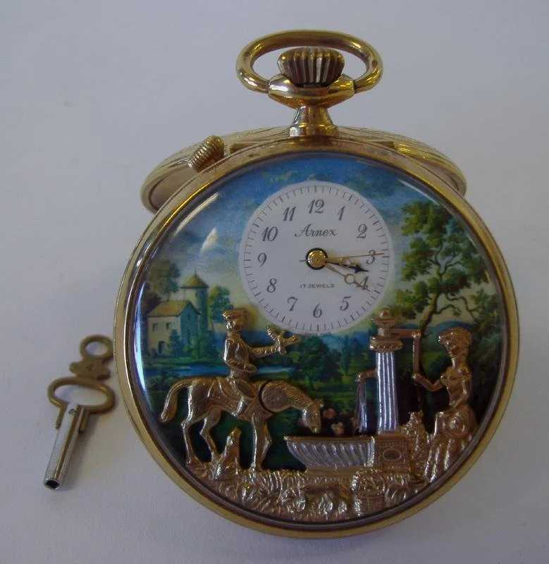 Swiss Automaton Music Box Pocket Watch Arnex