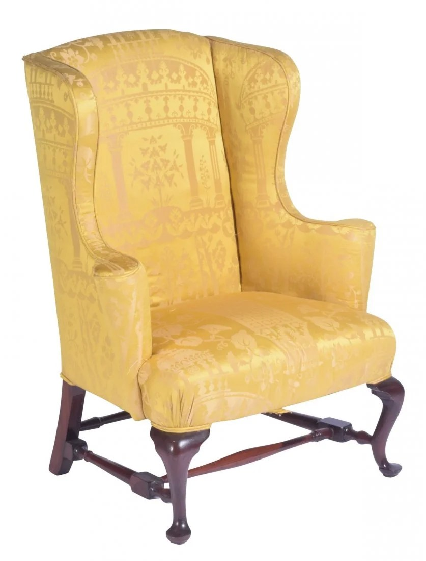 queen anne wing chair massage sharper image 18th or 19th c