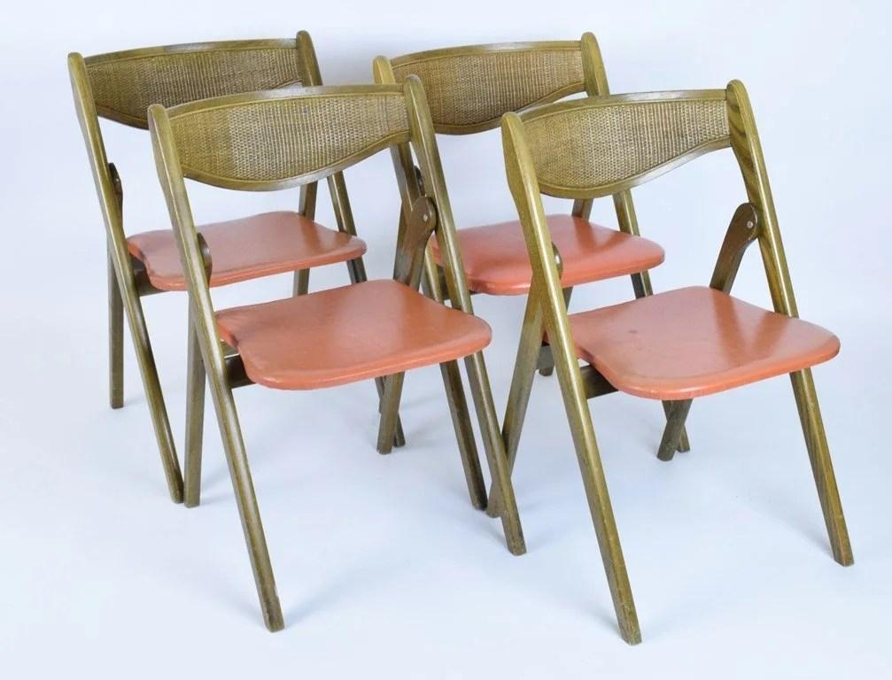 coronet folding chairs rocking chair springs uk set four norquist