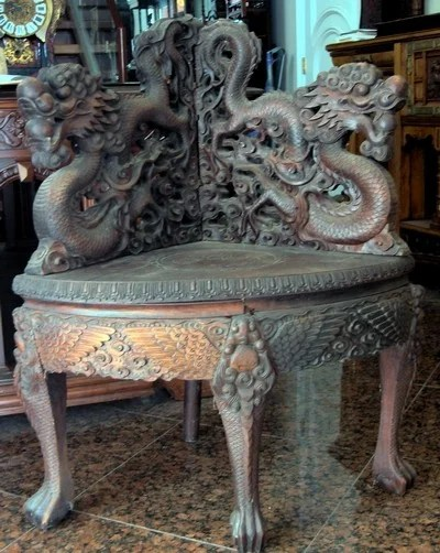 antique chinese dragon chair best folding lawn 1672 corner 1800s