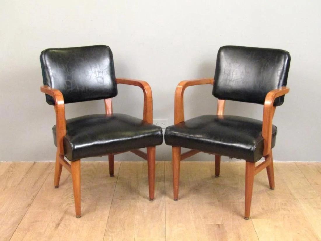 wh gunlocke chair bedroom deck pair w h co arm chairs