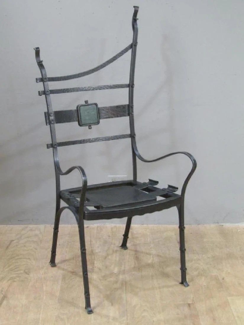 iron chair price evenflo majestic high seat cover nick hanchas sculptural see sold
