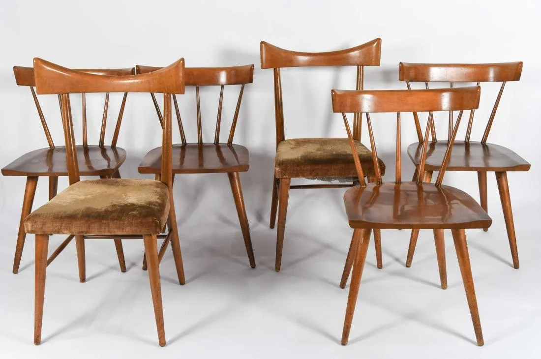 Paul Mccobb Chairs 6 Mid Century Paul Mccobb Dining Chairs On Liveauctioneers