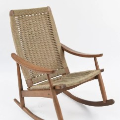 Hans Wegner Rocking Chair White Wood Desk No Wheels Style Of Yugoslavian