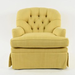 Tufted Yellow Chair Ikea Poang Covers Canada Club