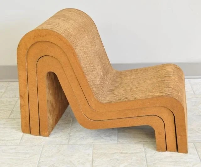 frank gehry cardboard chairs fisher price papasan chair nesting wiggle c 1972