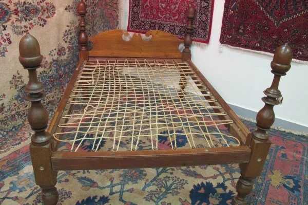 Antique Rope Bed Frame
