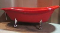 RED Kohler Birthday Bath Slipper Clawfoot Bathtub