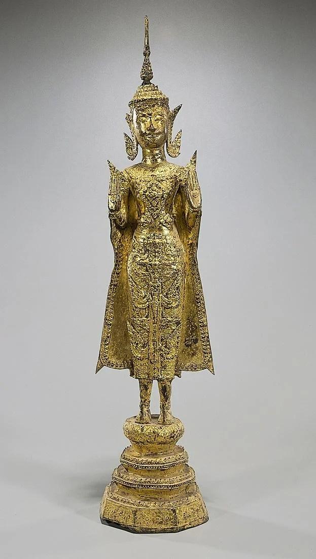 19 Century Thai Gilt Bronze Buddha
