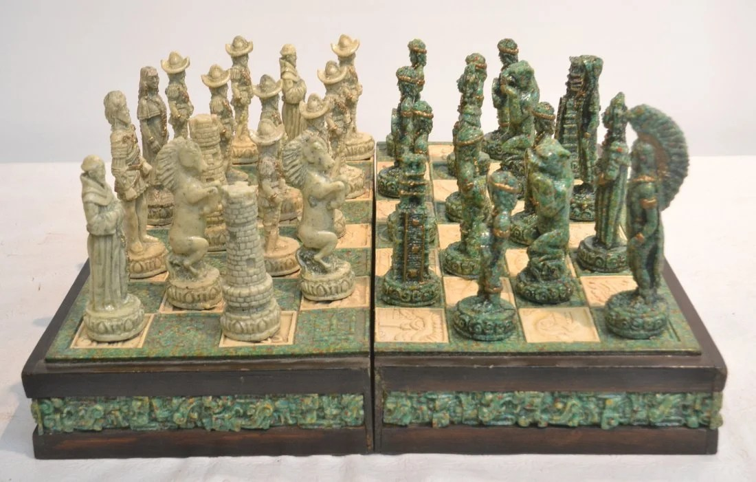 federal dining chairs ergonomic chair no back mayan vs. aztec stone chess set in self