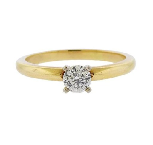 14k Gold Leo Diamond Engagement Ring