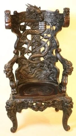 antique chinese dragon chair aluminum bistro table and chairs carved