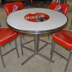 Coca Cola Chairs And Tables Stacking Cafe Table Chair Set