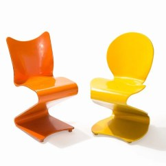 Panton S Chair Office Wheels Verner Two Chairs Mod S275 276 Thonet 1956