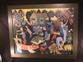 chinese chippendale chairs dining room chair leg protectors 1175: print of painting by anna pugh framed