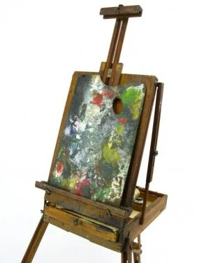 ANTIQUE FOLDING ARTISTS PAINTING EASEL