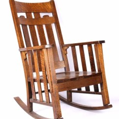 Rocking Chair Antique Styles Dining Cushions Non Slip Phoenix Co Mission Style Oak Rocker