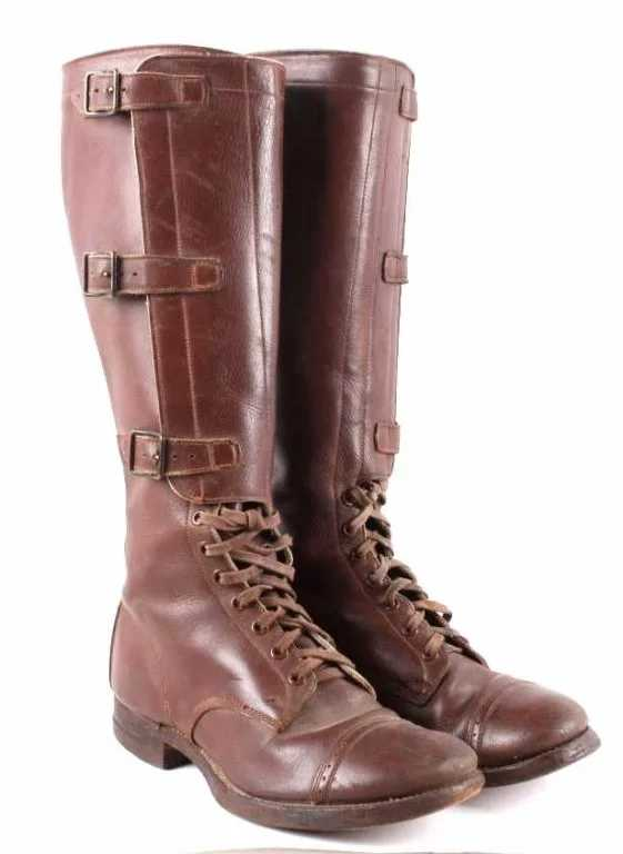WWII US Cavalry Mod 1941 Riding Boots Motorcycle T