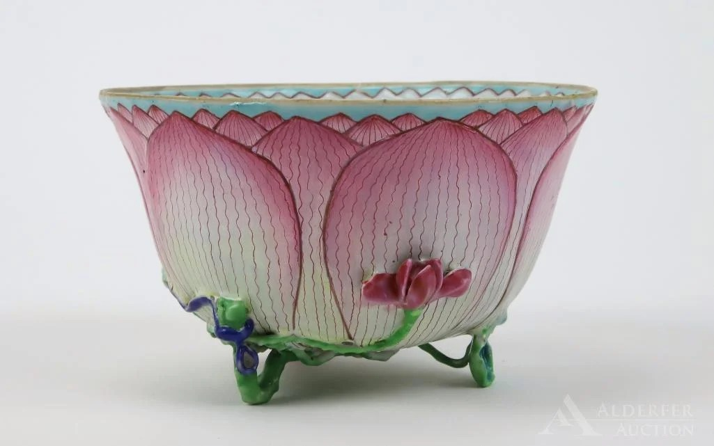 "Chinese Famille Rose ""Lotus\"" Bowl"