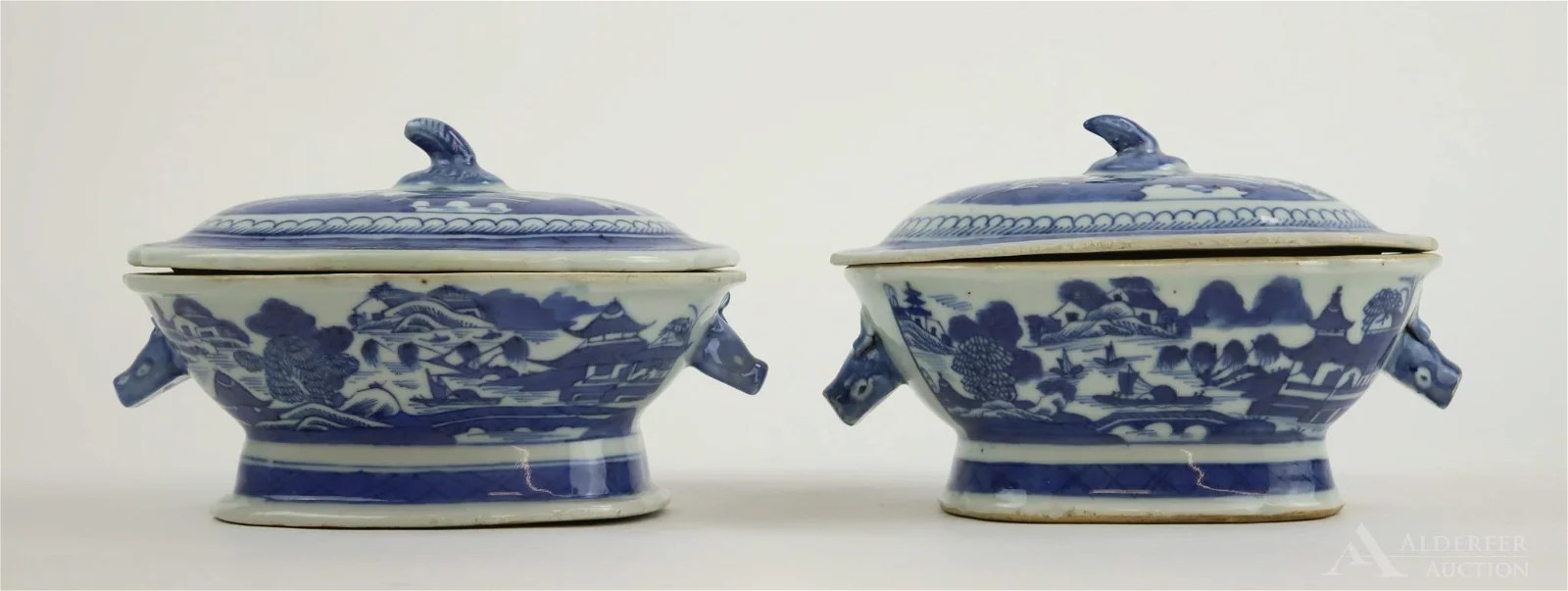 Chinese Canton Miniature Tureens