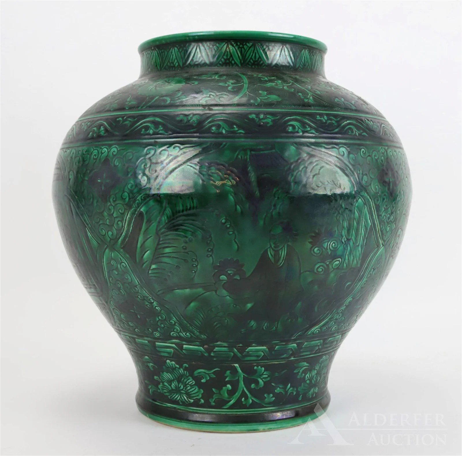 Green Glazed Chinese Jar