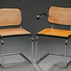 Marcel Breuer Cesca Chair With Armrests Upside Down 200 Set Of 8 Chairs