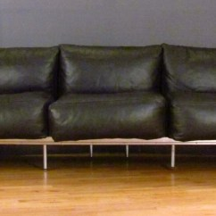 Lc3 Sofa Modern Sectional Toronto Le Corbusier In Chrome And Leather
