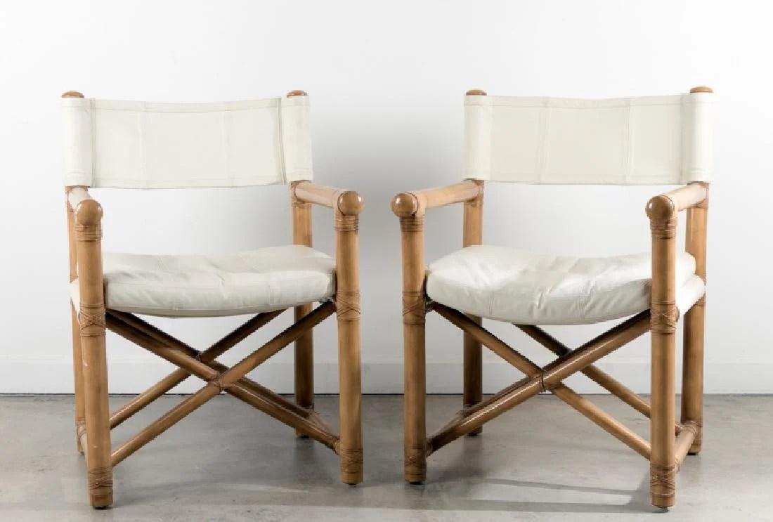 bamboo directors chairs bean bag chair at walmart pair of kreiss leather