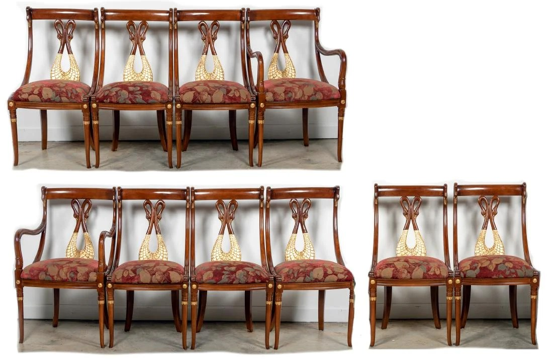 maitland smith dining chairs knoll tulip chair 10 empire upholstered