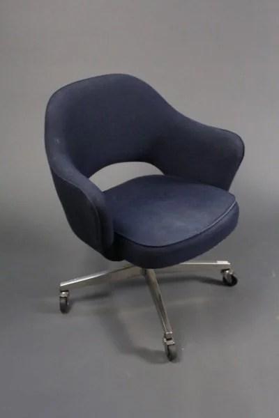 navy office chair rocking swing eero saarinen for knoll blue