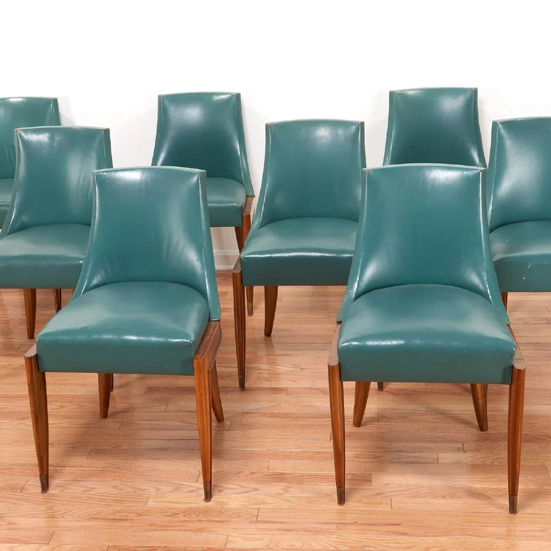 Art Deco Dining Chairs Set 10 Maurice Jallot Art Deco Dining Chairs On Liveauctioneers