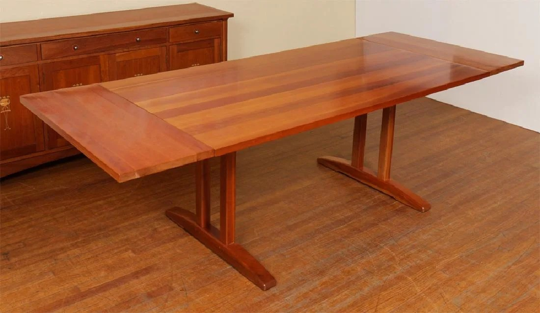 stickley cherry trestle dining