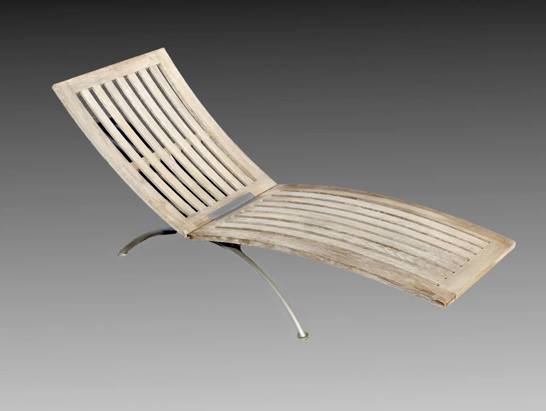 Teak Chaise Lounge Chairs Lister Teak Chaise Lounge Cabana Chair On Liveauctioneers