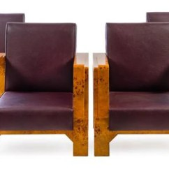 Art Deco Style Club Chairs Low Outdoor A Set Of Four Burlwood