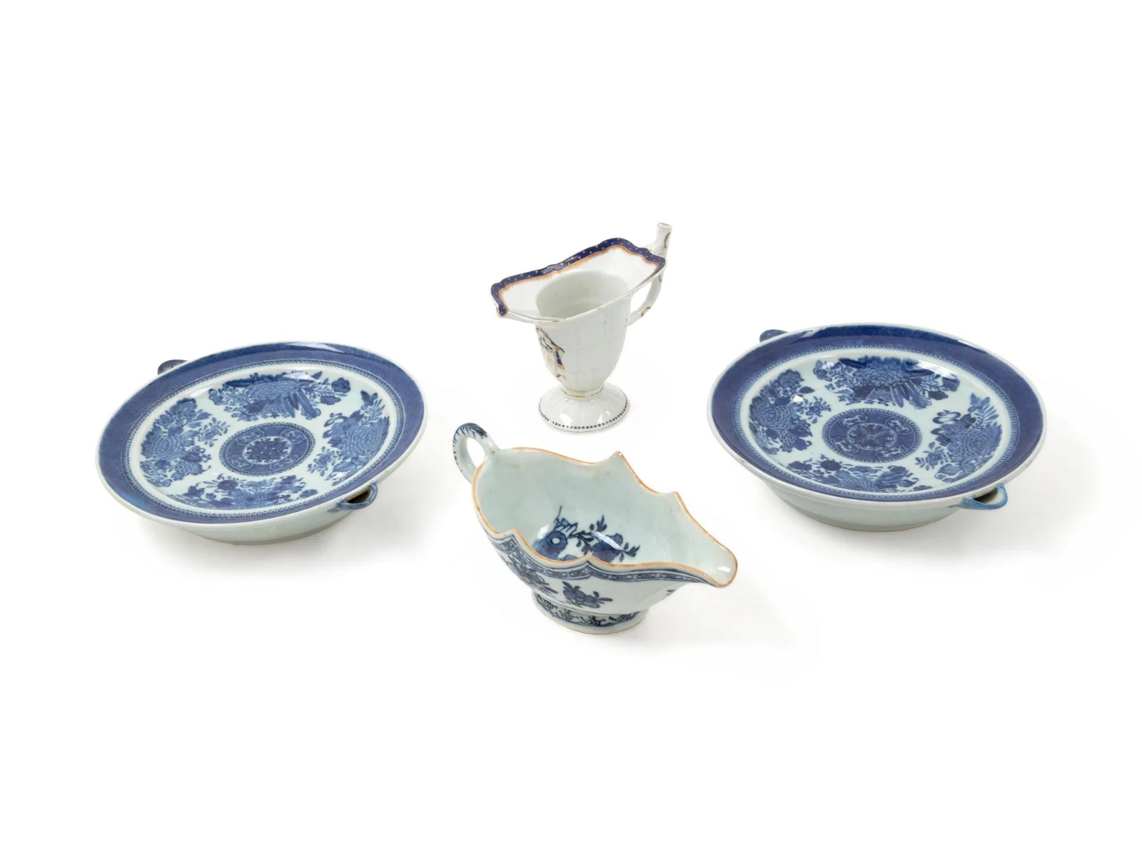 Four Chinese Blue and White Porcelain Export Articles