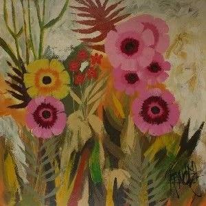 Lee Reynolds Burr Flower Painting