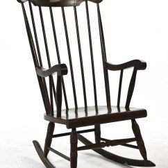 Rocking Chair Height Retro Classic White Accent Chairs 2083 An American Windsor Style 4