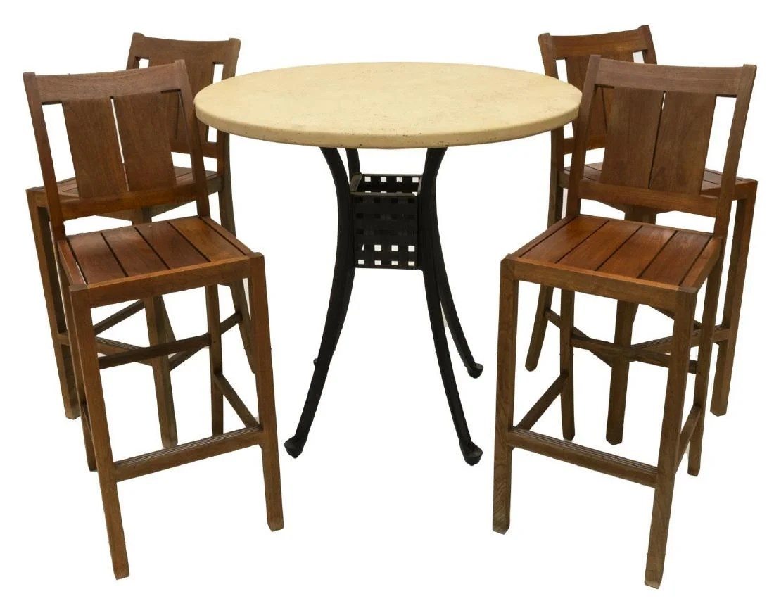 antique metal chairs for sale wheelchair fight vintage 5 summer classics teakwood bistro set