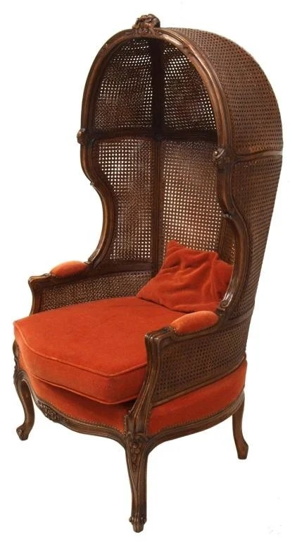 french canopy chair burlap covers for folding chairs louis xv style walnut cane