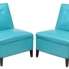 Turquoise Side Chair Amish High 2 Mid Century Modern Chairs